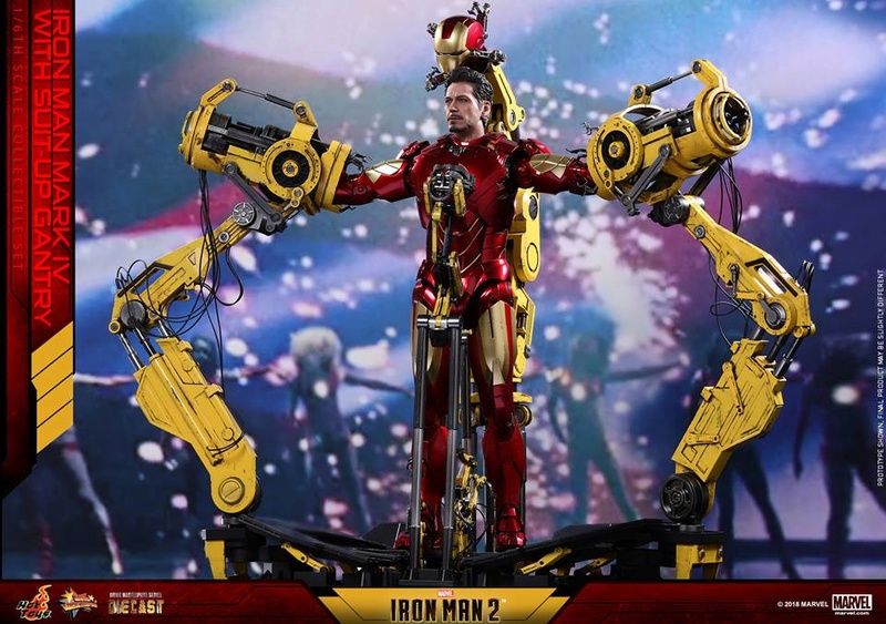 [Hot Toys] -Iron Man 2-Mark IV with Suit-Up Gantry 1/6 26166010