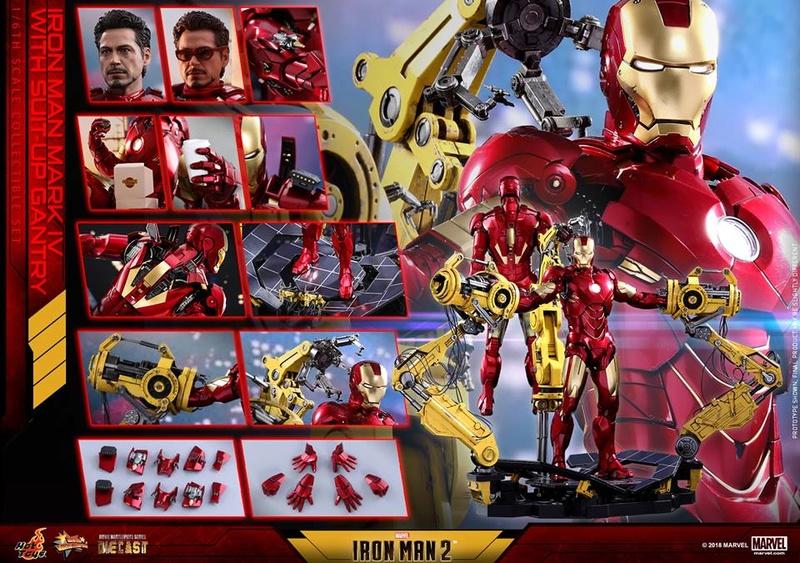 [Hot Toys] -Iron Man 2-Mark IV with Suit-Up Gantry 1/6 26167212