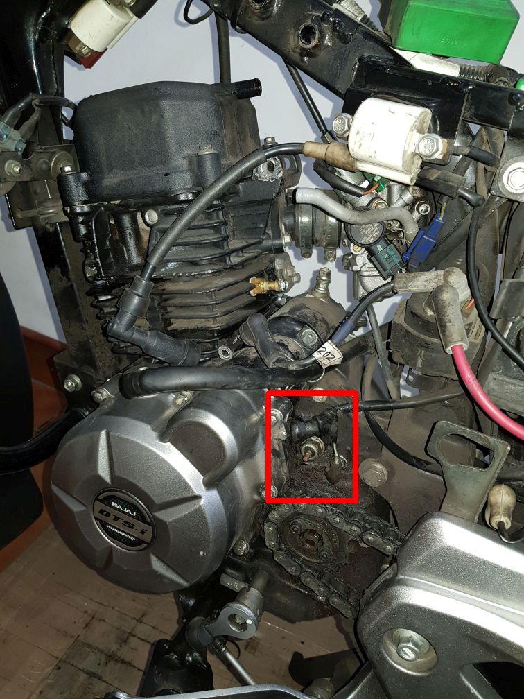 Conectores electricos en motor Motor110