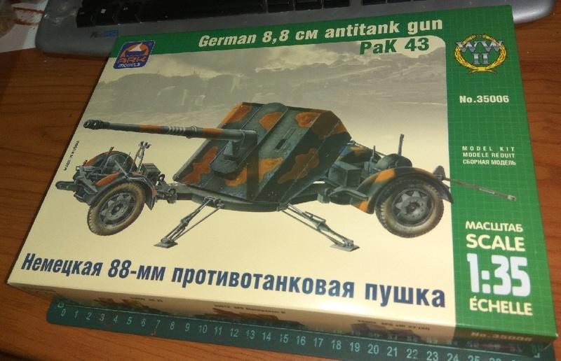 обзор - PaK 43 - немецкая 88-мм противотанковая пушка 1:35- ARK Models No.35006  0112