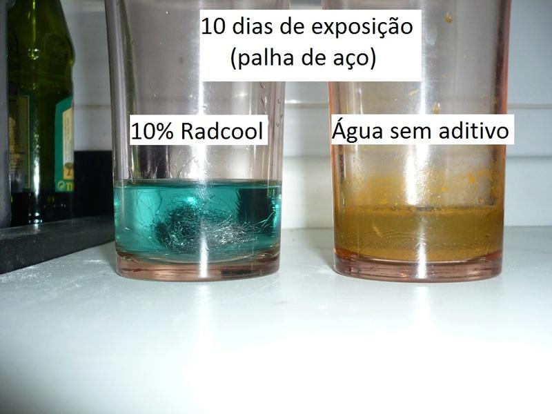 Testes de corrosão - agua x aditivo B_10-d10