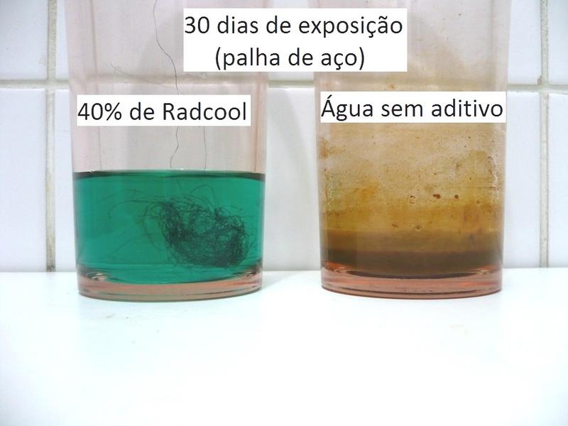 Testes de corrosão - agua x aditivo C_30-d10