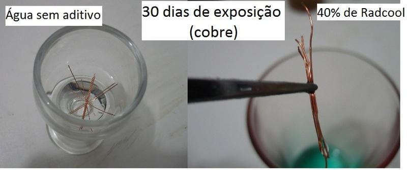 Testes de corrosão - agua x aditivo D_30-d10