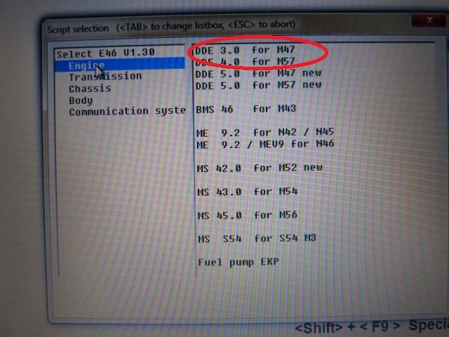 [ BMW e46 320D M47 an 1998 ] Installer moteur M47 dans INPA (résolu) 916