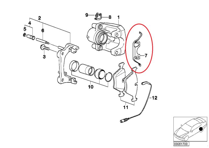 [ BMW E46 330d BVA an 2001 ] Problème étrier arrière gauche freine tout seul B0023710