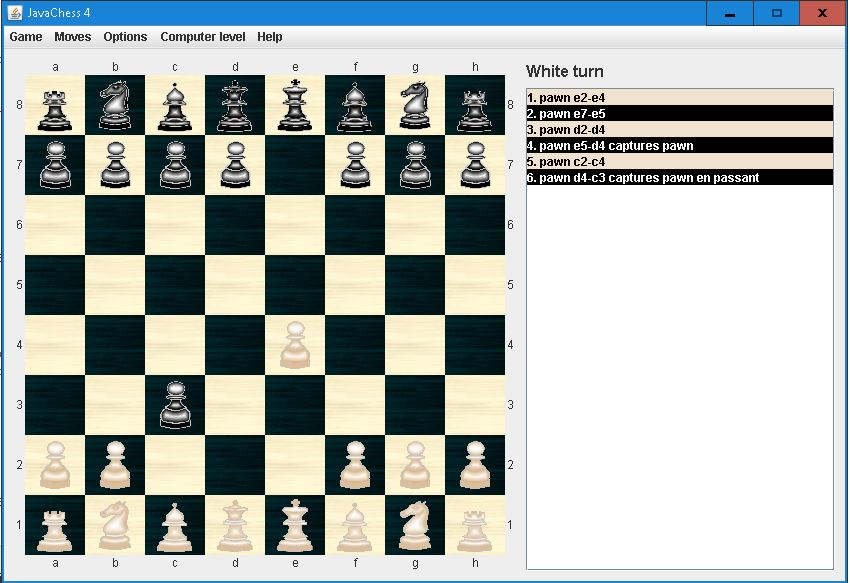 Nouveau programme d'échecs en Java Enpass10