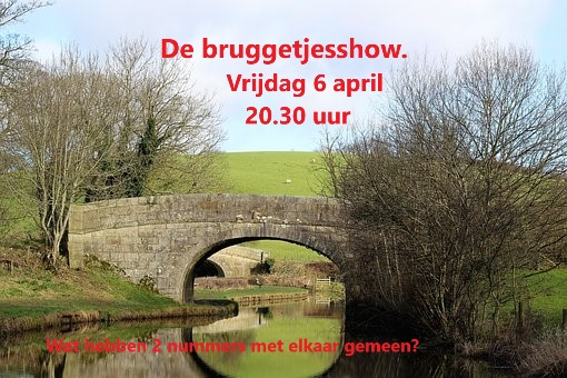 Vrijdag 6 april :  Bruggetjes! 20:30 uur Brugge10