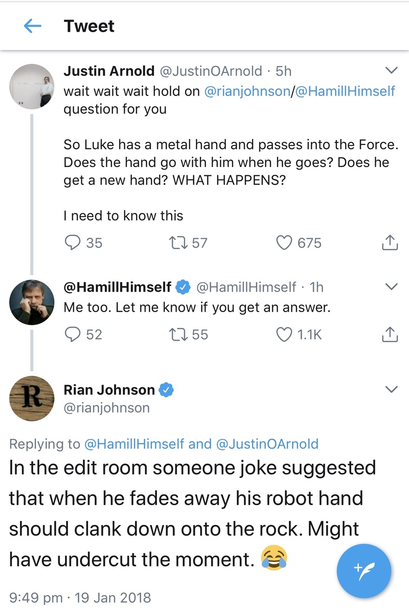 Discussion: Luke Skywalker in TLJ - Page 2 6f2fb610