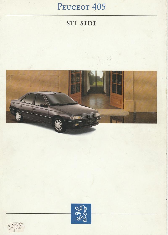 Brochure d'époque gamme 405 (1994) Brochu10