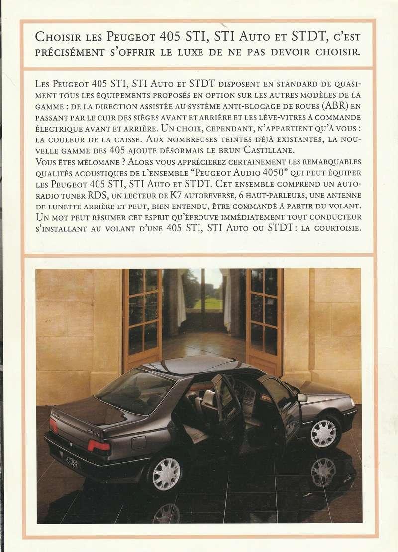 Brochure d'époque gamme 405 (1994) Brochu16