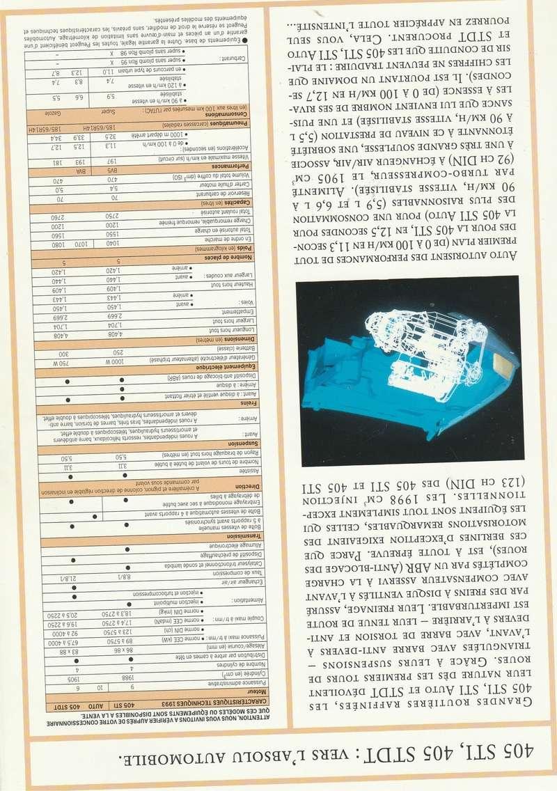 Brochure d'époque gamme 405 (1994) Brochu21