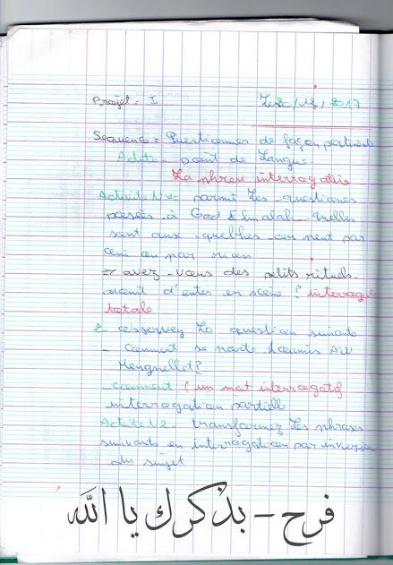 الصفحــة الرسمــية لمراجعة مادة الفرنسية للسنة أولى ثانوي إن شــآء الله  213