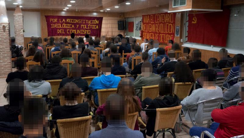 [Movimiento por la Reconstitución] Acto de homenaje por el centenario de la Gran Revolución Socialista de Octubre A10