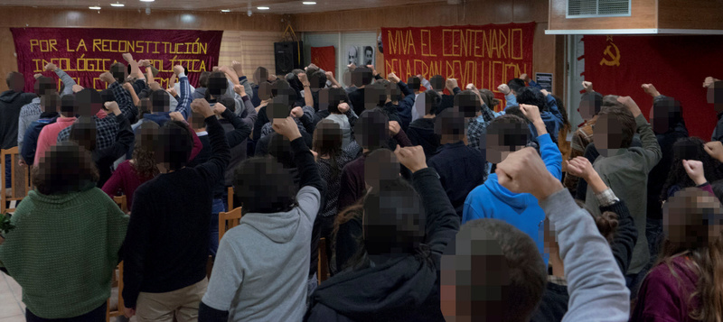 [Movimiento por la Reconstitución] Acto de homenaje por el centenario de la Gran Revolución Socialista de Octubre B10
