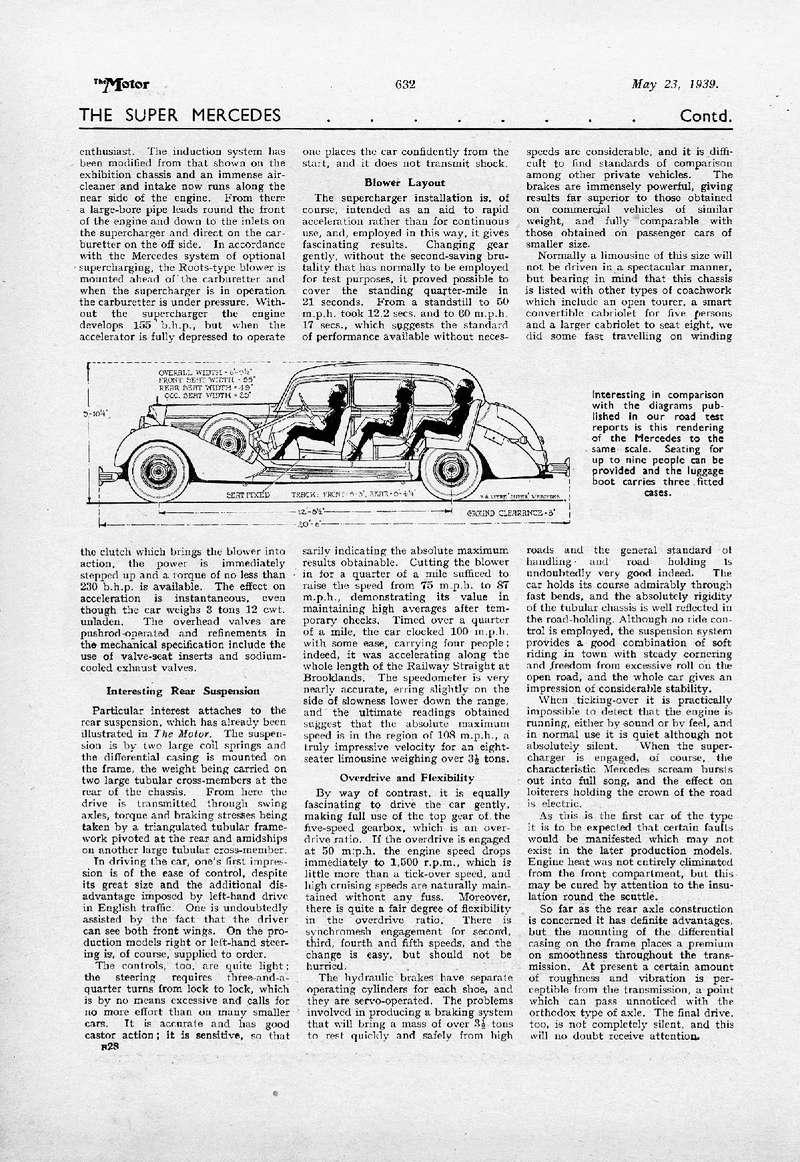 """Essai de la Mercedes 770 w150 par """"The Motor"""" le 23 mai 1939 1939_t11"""