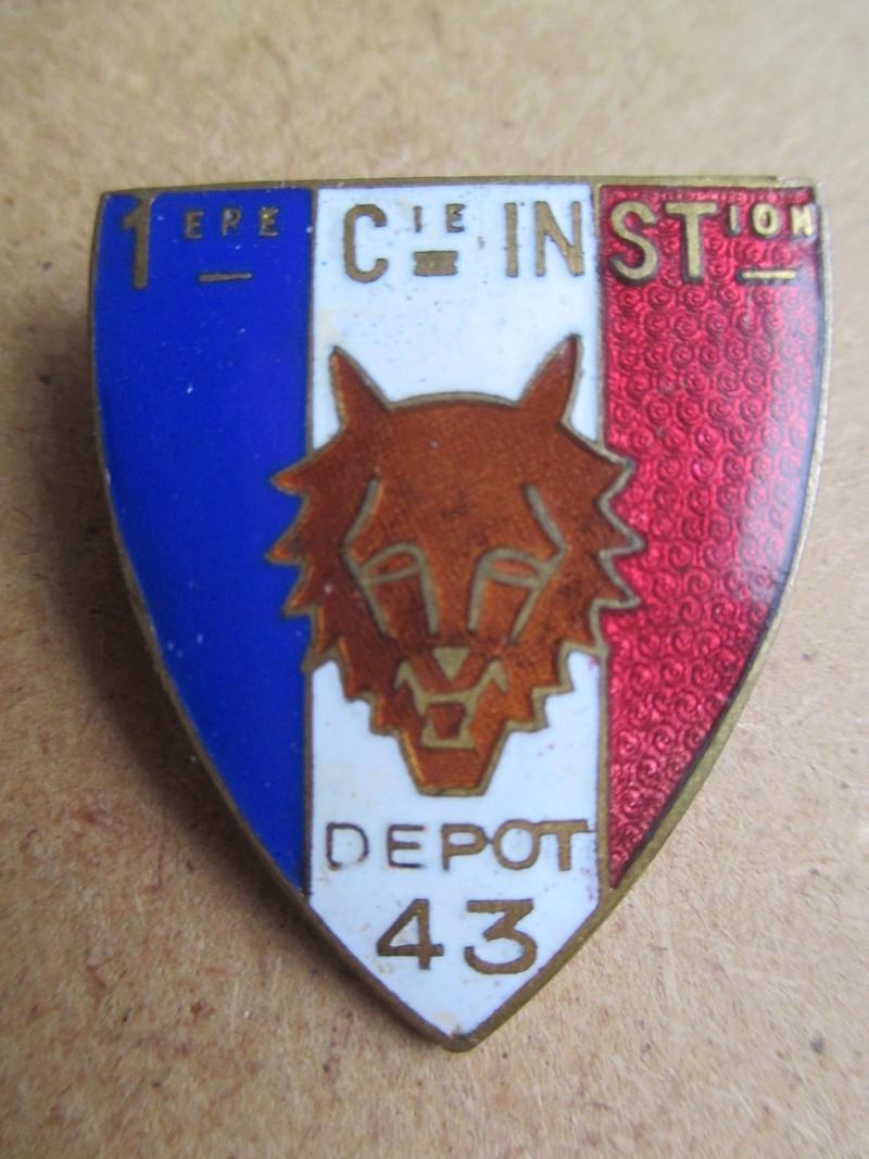 Estimation insigne 1ère compagnie d'instruction infanterie Img_1813