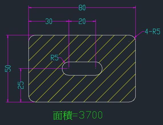 AutoCAD教學 幾何圖形習題01 0110