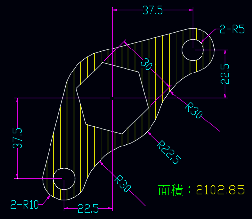 AutoCAD教學 幾何圖形習題02 0110