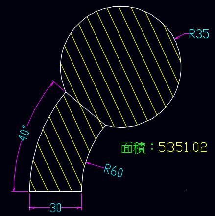 AutoCAD教學 幾何圖形習題08 0115