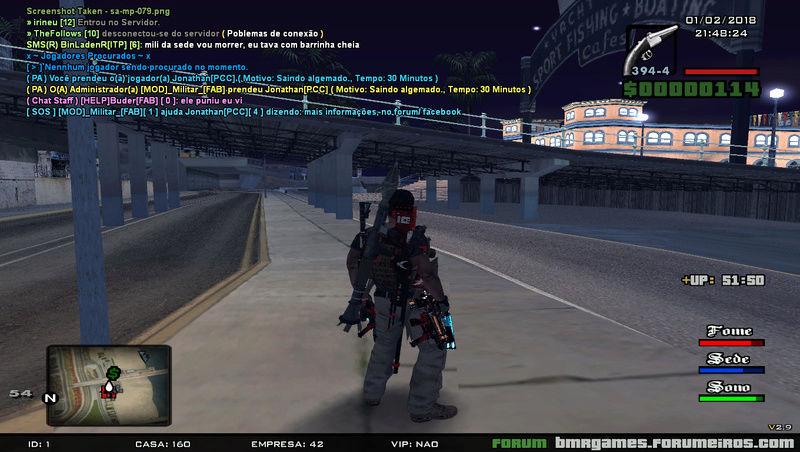 Jonathan[PCC] saindo algemado. Sa-mp-43