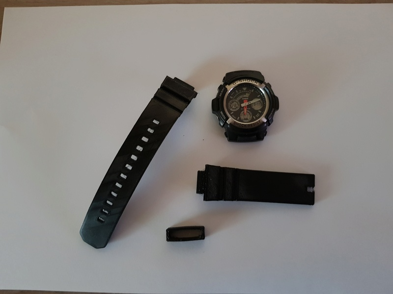 Bracelet complet et attache (flexibles) pour montre Casio G-Shock 20180514