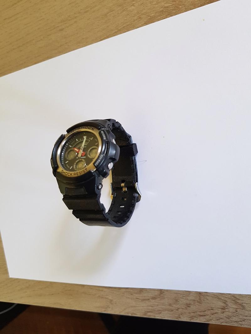 Bracelet complet et attache (flexibles) pour montre Casio G-Shock 20180516