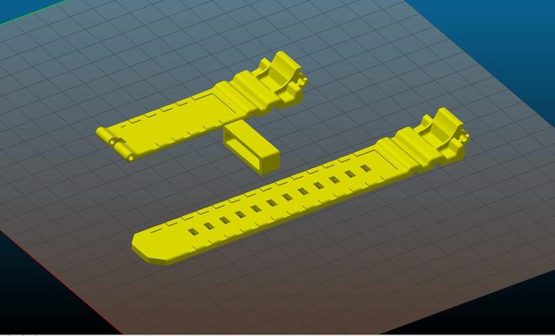 Bracelet complet et attache (flexibles) pour montre Casio G-Shock Captur10