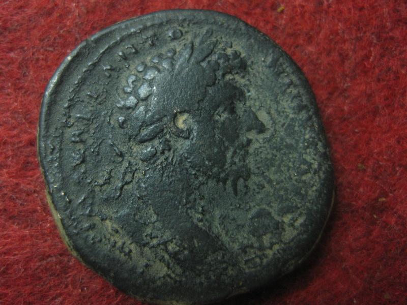 Sestercio de Marco Aurelio. TR P XVIII IMP II COS III /S C. Minerva Img_4760