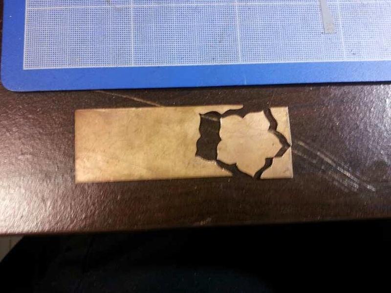 1er sertis griffe - WIP d'un pendentif raté fleur en cuivre 23804511