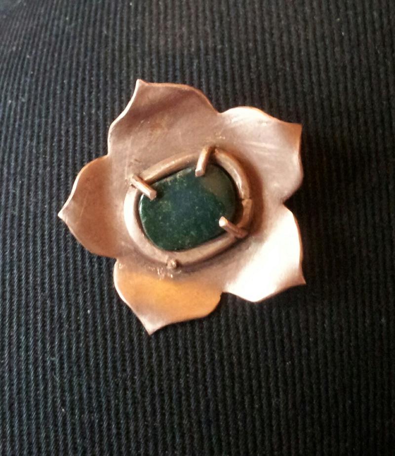 1er sertis griffe - WIP d'un pendentif raté fleur en cuivre _2017113