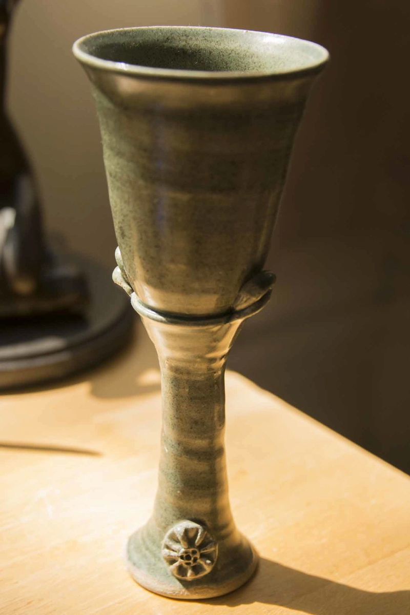 Tall pot goblet - Hugh West  Goblet10