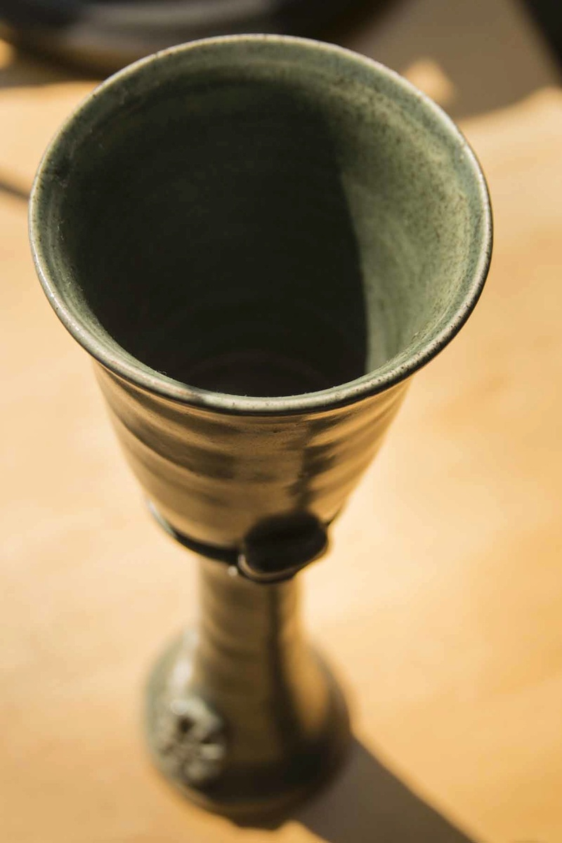 Tall pot goblet - Hugh West  Goblet11