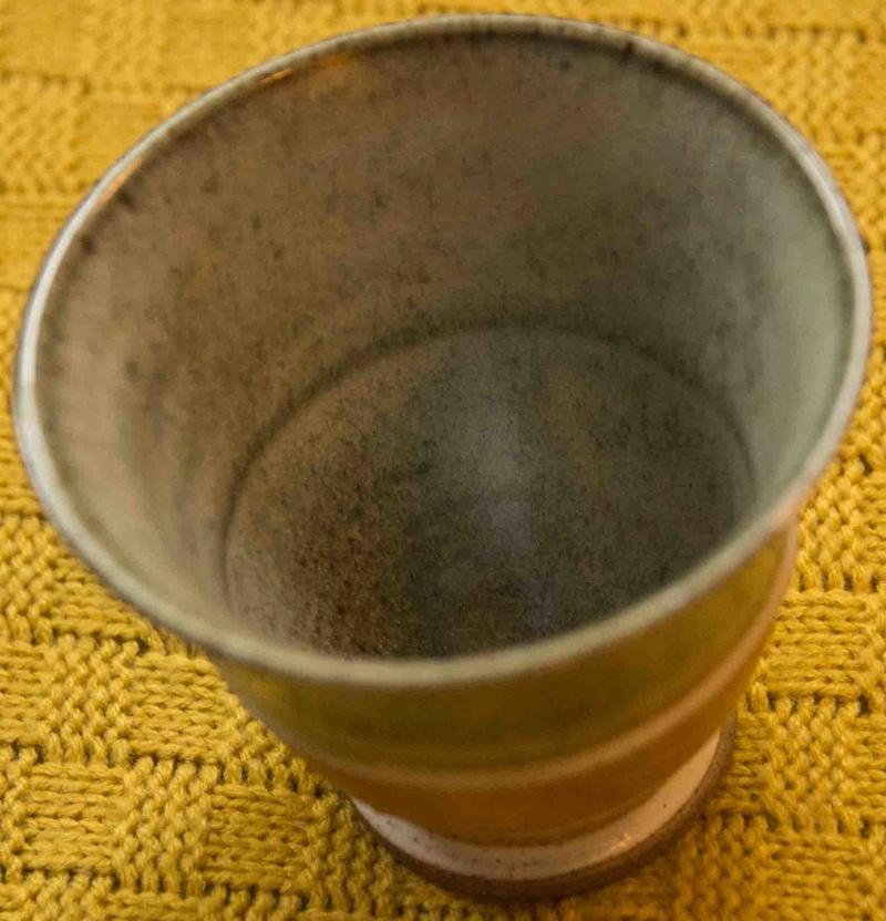 Ceramic cup signed JH - Janet Adams Pot1b10