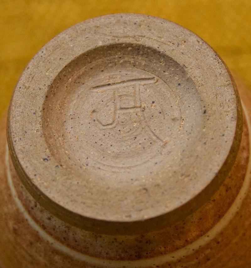 Ceramic cup signed JH - Janet Adams Pot1c10