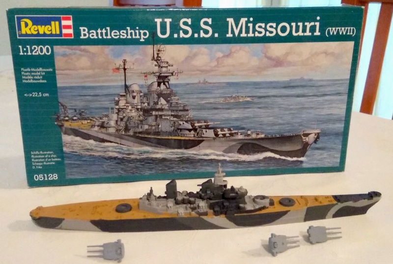 USS Missouri Revell 1/1200e Missou10