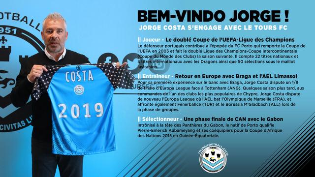 Jorge Costa nouvel entraineur du Tours FC Visuel10