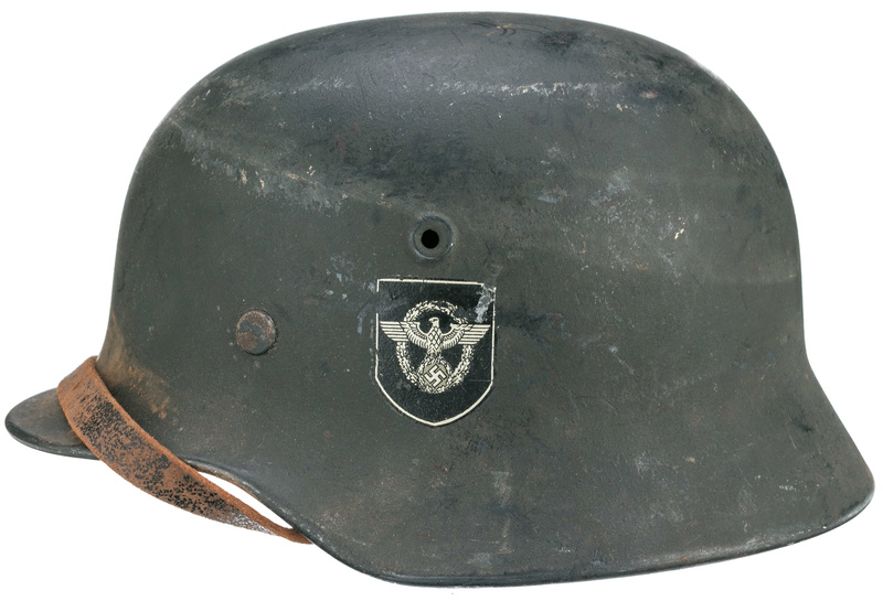 Authentification casque Polizei ww2 29715213
