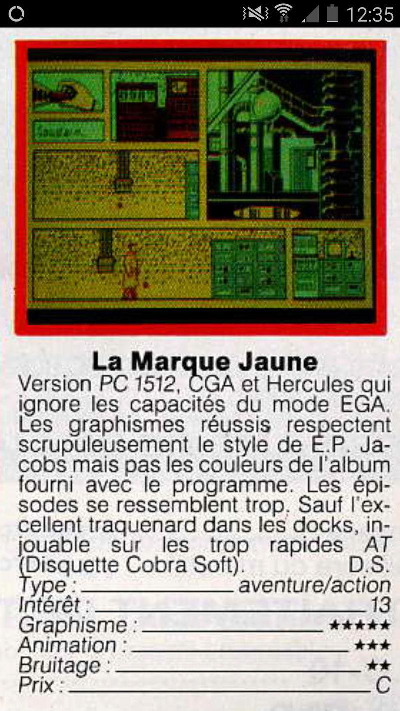 Blake & Mortimer / La marque jaune /  Cobrasoft   amstrad  - atari st - thomson Screen12