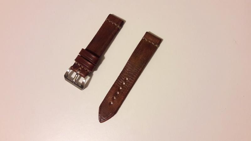 [Retirado] Bracelete artesanal em pele genuína 20171219