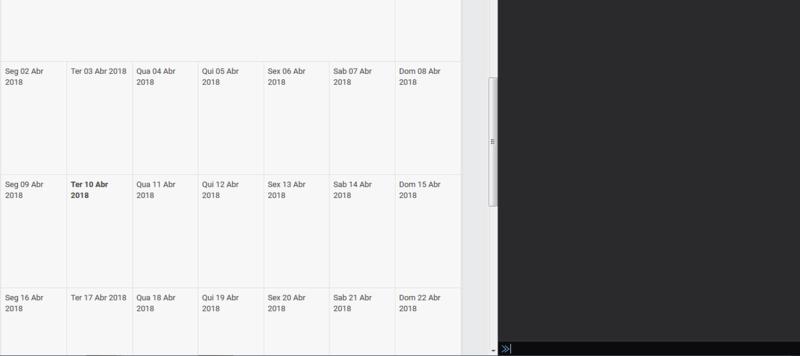 Script para linkar calendario com eventos A10