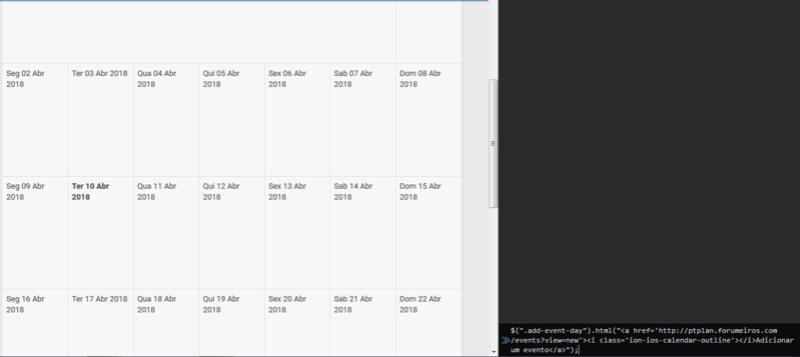 Script para linkar calendario com eventos B10