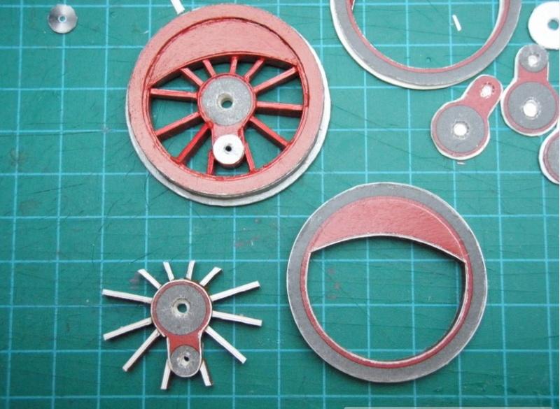 Kartonbauerstlingswerk T-3 von Modelik  1:25 003_0210