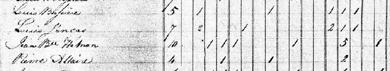 RECENSEMENT DE 1831 1825_r14