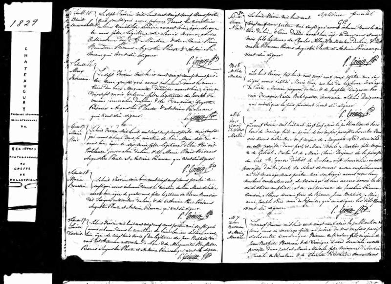 Date et année du décès de Marie Ursule Martin et de Victorine Duranceau Acte_d15