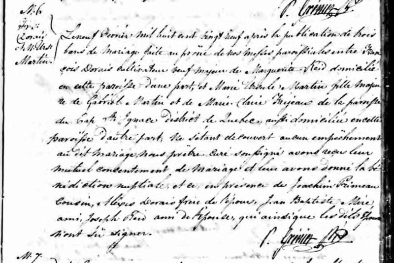 Date et année du décès de Marie Ursule Martin et de Victorine Duranceau Acte_d16
