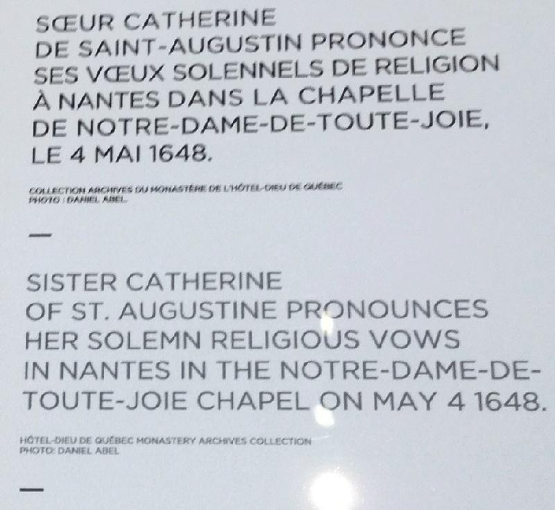 Bienheureuse Soeur-Catherine-de-St-Augustin - SOUVENIRS DE DENISE PELLETIER MICHAUD Plaque10