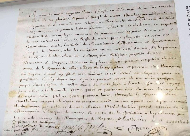 Bienheureuse Soeur-Catherine-de-St-Augustin - SOUVENIRS DE DENISE PELLETIER MICHAUD Voeux_10