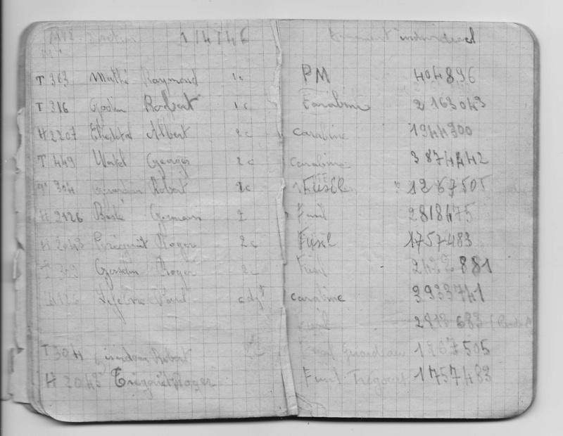 4 RMT 14 C Indochine MV2 3è section carnet de groupe extrait Armeme10