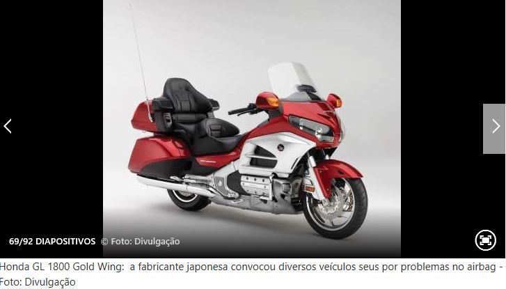 Recall de alguns modelos de mota Honda10
