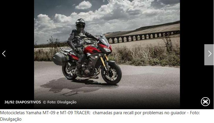 Recall de alguns modelos de mota Yamaha10
